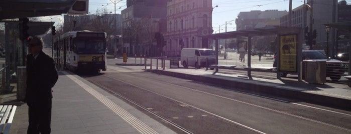 Tram Stop 7 - Queen Victoria Market (19/57/59) is one of Locais curtidos por Dominic.