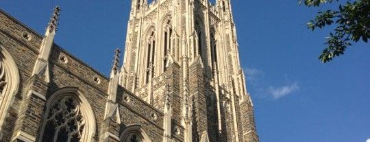 Duke University Chapel is one of Orientation Week Locations.