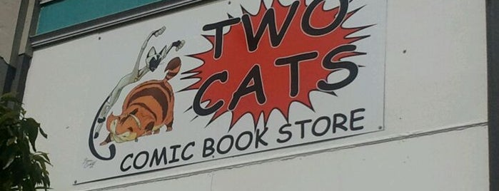 Two Cats Comic Book Store is one of Tempat yang Disimpan squeasel.