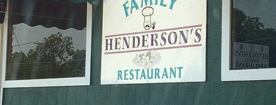 Henderson's Family Restaurant is one of Tempat yang Disukai Emilio.