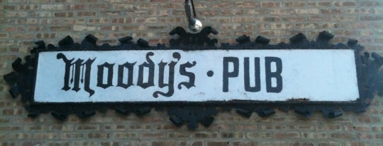 Moody's Pub is one of Burgers 'n' Bars in Chicago.