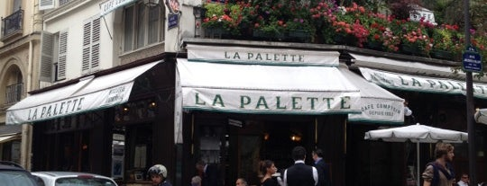 La Palette is one of Paris bars.