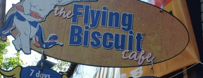 The Flying Biscuit Cafe is one of ATL eats and drinks.