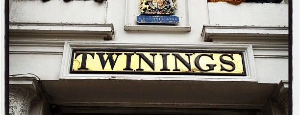 """Twinings is one of """"London Tea"""" spots."""