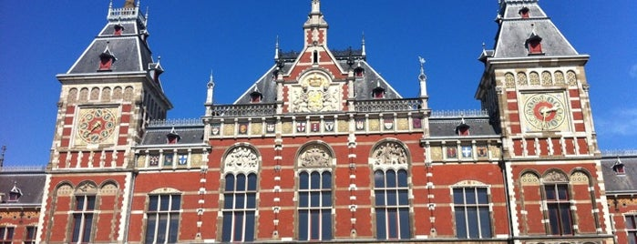 Центральный вокзал Амстердама is one of 🌠.
