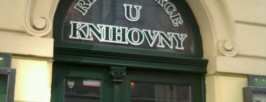Restaurace U Knihovny is one of Jakub 님이 좋아한 장소.
