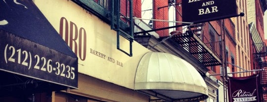 Oro Bakery and Bar is one of Late Happy Hour NYC.