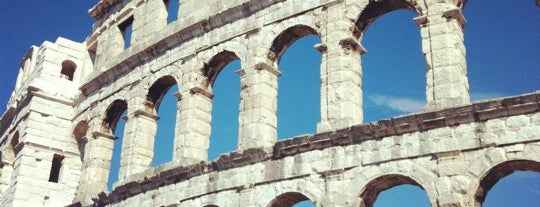 Arena Pula | The Pula Amphitheater is one of Orte, die Mym gefallen.