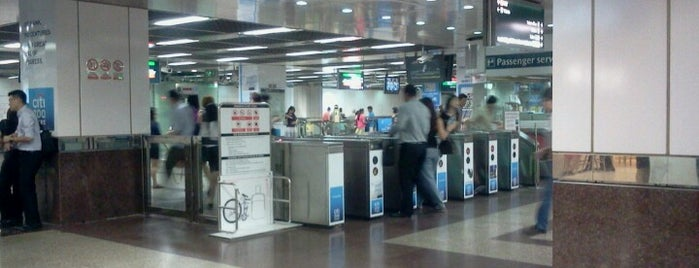 City Hall MRT Interchange (EW13/NS25) is one of Frequents....
