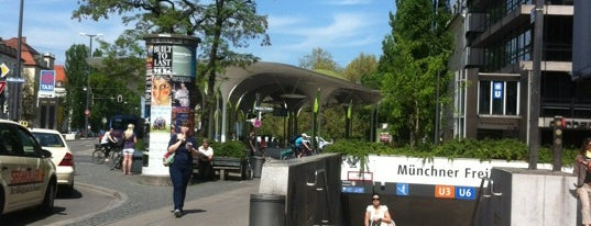 Münchner Freiheit is one of StorefrontSticker #4sqCities: Munich.