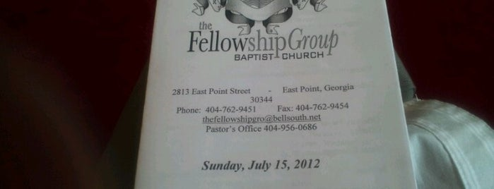 Fellowship Group Baptist Church is one of @TimekaWilliams 님이 저장한 장소.