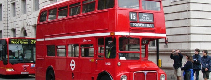 TfL Bus 15 is one of London.