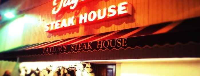 Taylor's Prime Steak House is one of You Fancy Huh.