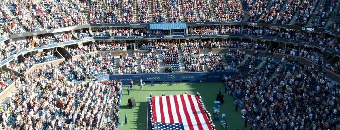 Arthur Ashe Stadium is one of Lieux qui ont plu à Emily.