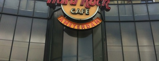 Hard Rock Cafe Amsterdam is one of Amsterdam ye&iç.