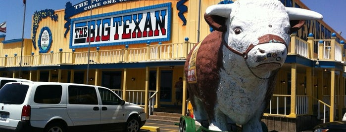 The Big Texan Steak Ranch is one of Man vs Food Spots Texas.