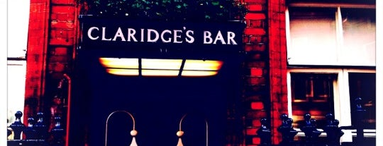 Claridges's Bar is one of LONDON.
