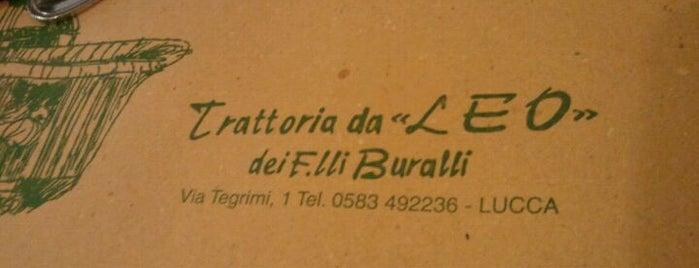 Trattoria Da Leo dei F.lli Buralli is one of Mangiare a Lucca C&G.