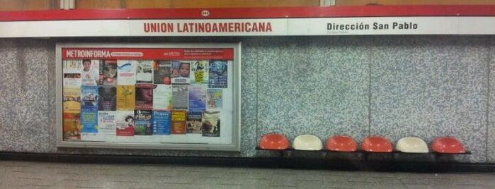 Metro Unión Latinoamericana is one of Linea 1 Metro de Santiago.