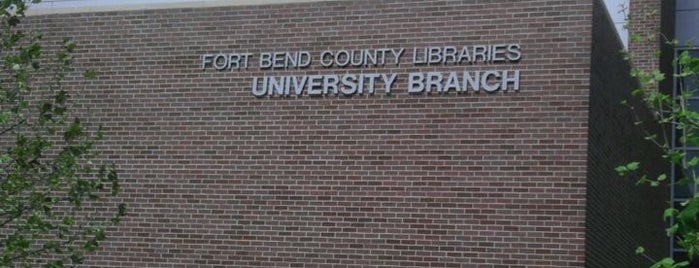 Fort Bend County Library-University Branch is one of Tempat yang Disukai Lawrence.