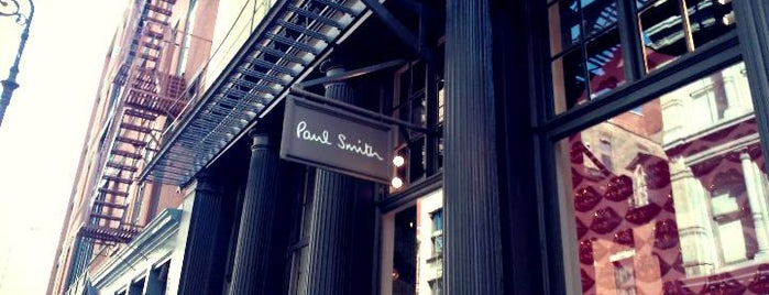 Paul Smith is one of NYC Men's Shops.