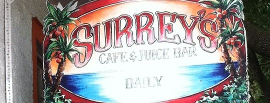 Surrey's Cafe & Juice Bar is one of awesome randomness.