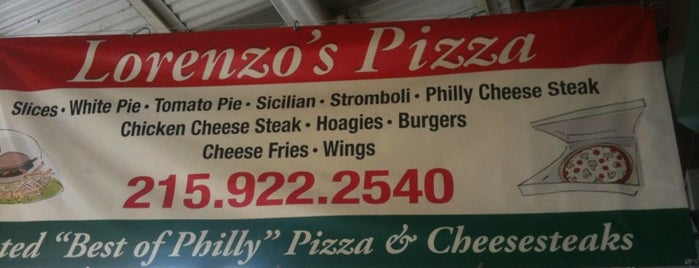 Lorenzo's Pizza is one of Philly.