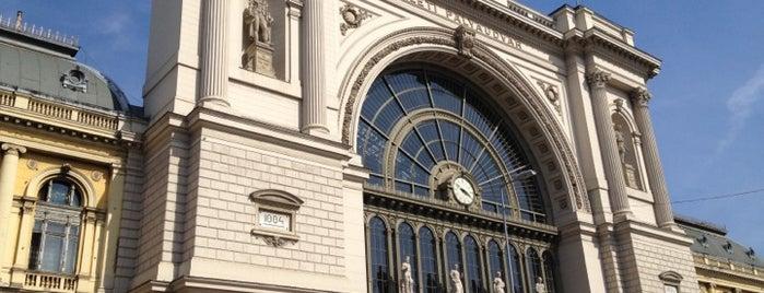 Keleti pályaudvar is one of Budapeste (Hungria).