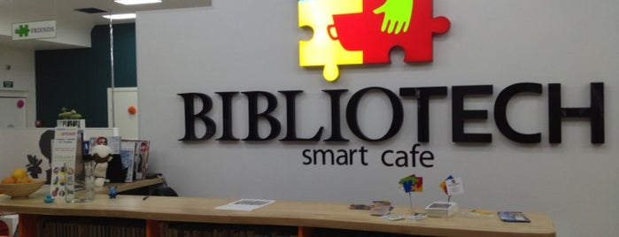 Smart Cafe BIBLIOTECH is one of Free wi-fi places in Kyiv.