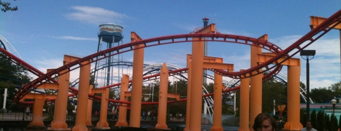 Iron Dragon is one of Conquering Cedar Point.