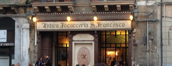 Antica Focacceria San Francesco is one of World Gourmet Guide.