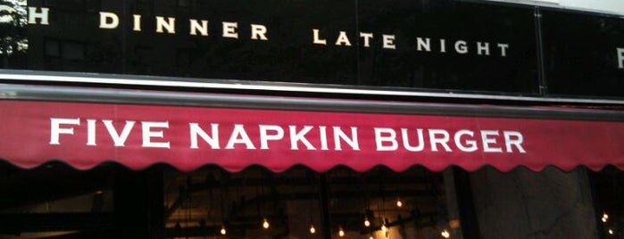 5 Napkin Burger is one of The City's Best Hot Dogs.