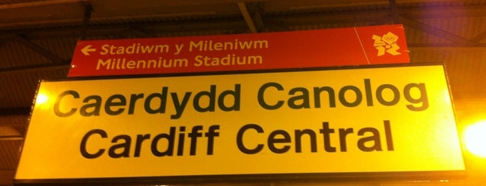 Cardiff Central Railway Station (CDF) is one of You calling me a train spotter?.
