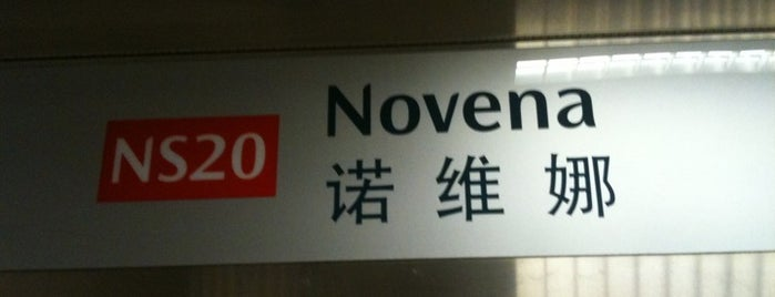 Novena MRT Station (NS20) is one of Singapore: business while travelling.