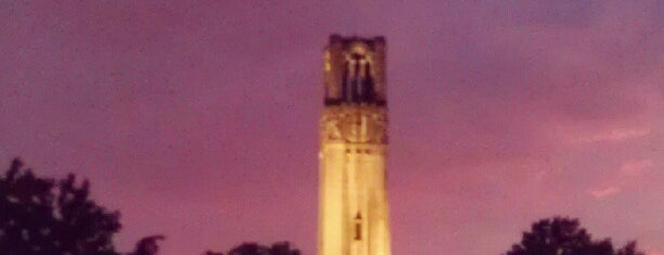 Memorial Belltower is one of Raleigh Favorites.