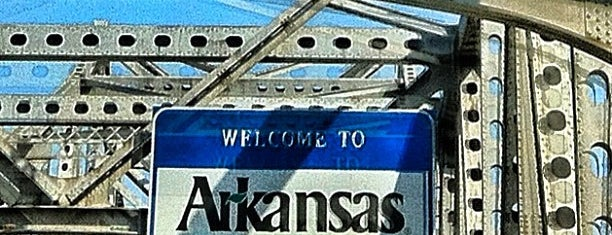 Arkansas/Tennessee State Line is one of Memphis Places.