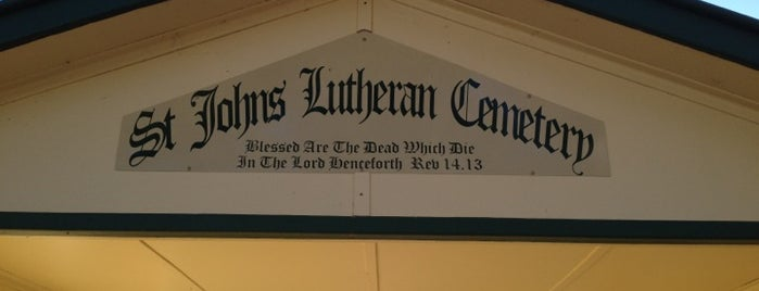 St. Johns Lutheran Cemetery is one of Jindera.