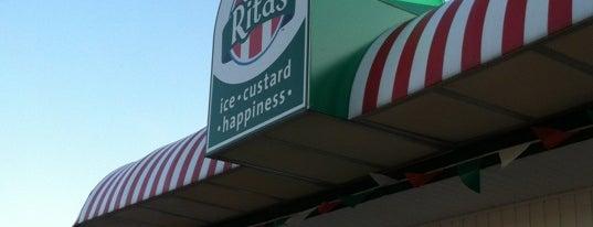 Rita's Italian Ice & Frozen Custard is one of ic.