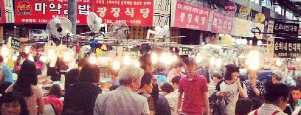 Gwangjang Market is one of Taipei / Seoul.