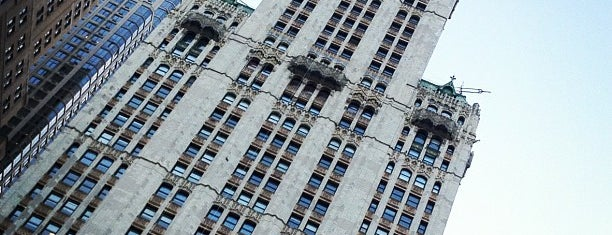 Woolworth Building is one of Historic NYC Landmarks.