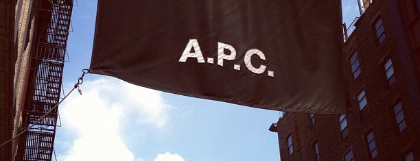 A.P.C. is one of NYC shops.