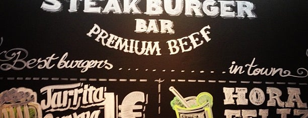 Steak Burger Bar is one of Madrid.