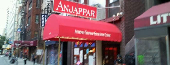 Anjappar New York is one of NYC food.