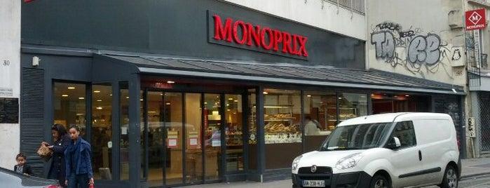 Monoprix is one of Paris food.