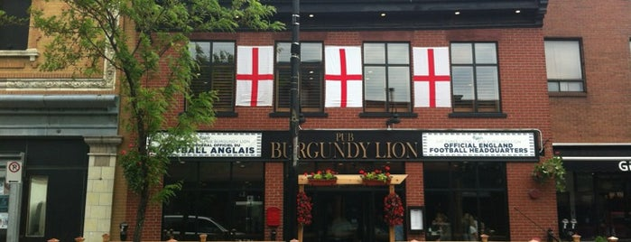 Burgundy Lion is one of Places to Drink - Montreal.