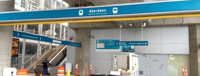 Aberdeen SkyTrain Station is one of Vancouver Canada Line.