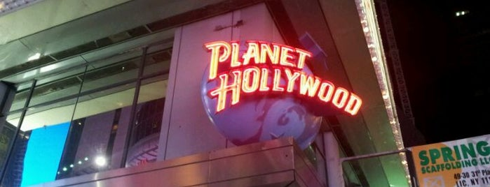 Planet Hollywood is one of places to visit.