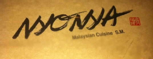 Nyonya is one of Southeast Asian.