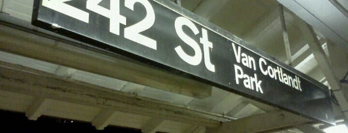 MTA Subway - 242nd St/Van Cortlandt Park (1) is one of Cindy : понравившиеся места.