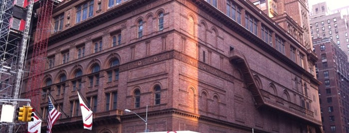 Carnegie Hall is one of NYC Arts.